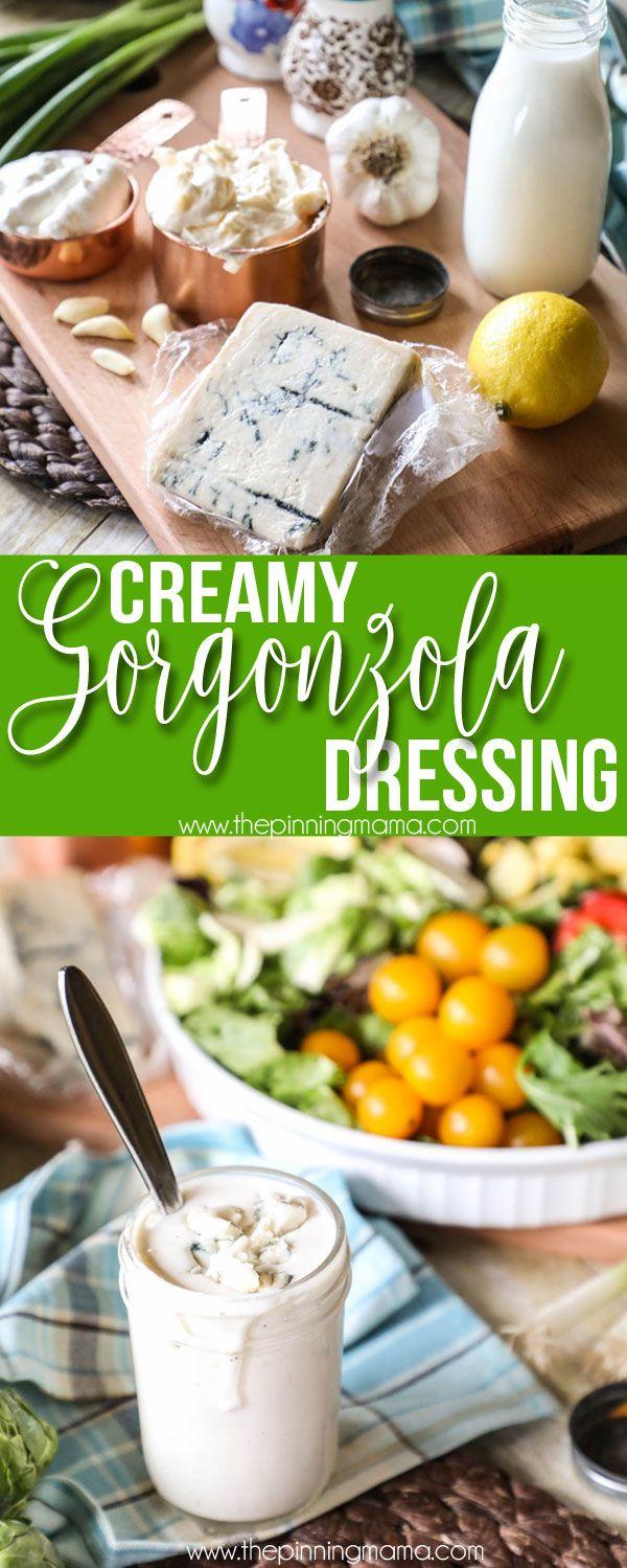 Delicious Simple Ingredients For Homemade Creamy Gorgonzola Dressing Gorgonzola Dressing Recipe Gorgonzola Dressing Salad Dressing Recipes Homemade