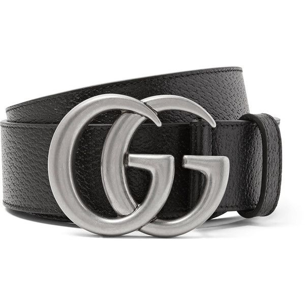 Gucci 4cm Full-Grain Leather Belt (£300) ❤ liked on Polyvore featuring men's fashion, men's accessories, men's belts, belts and gucci mens belt