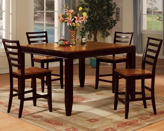 Lauren 5 Pc Counter Height Dinette Extendable Dining Table
