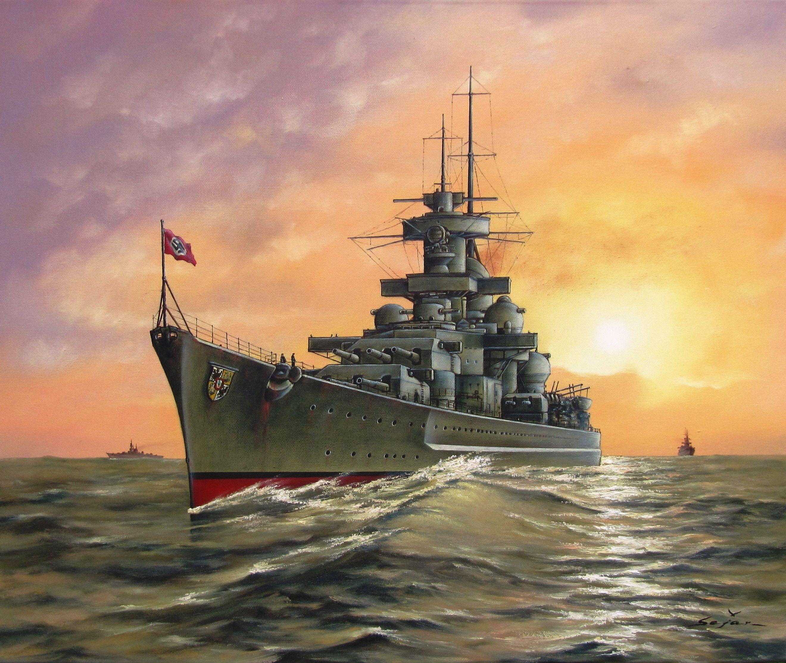 военные корабли цветные картинки удовольствием демонстрирует