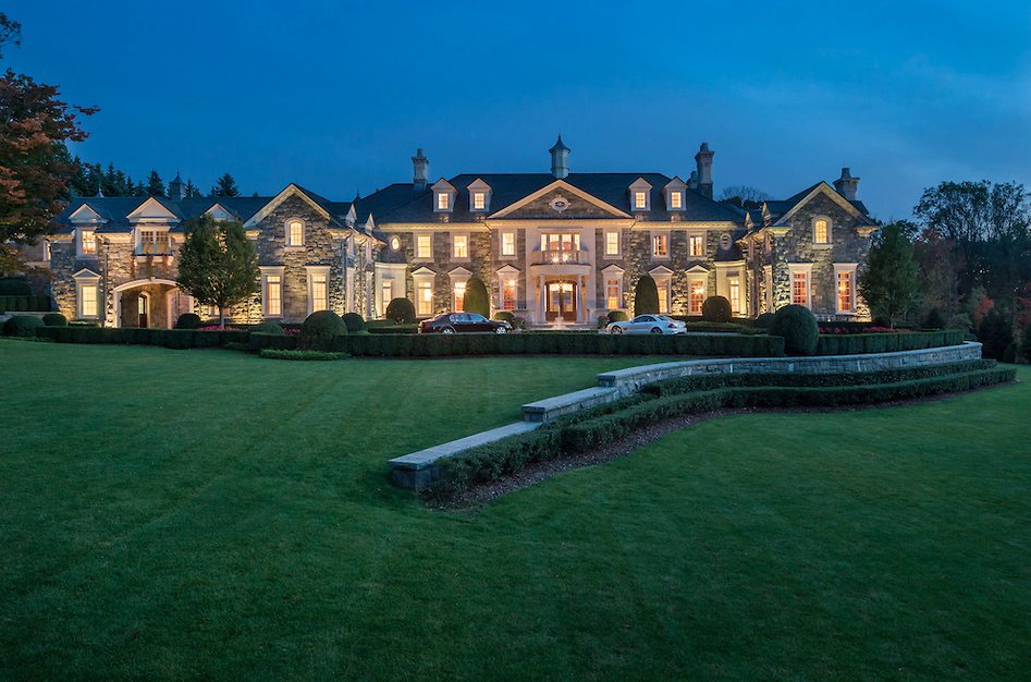 Front Exterior The Incomparable Stone Mansion Estate Located At - Ultimate stone homes collection