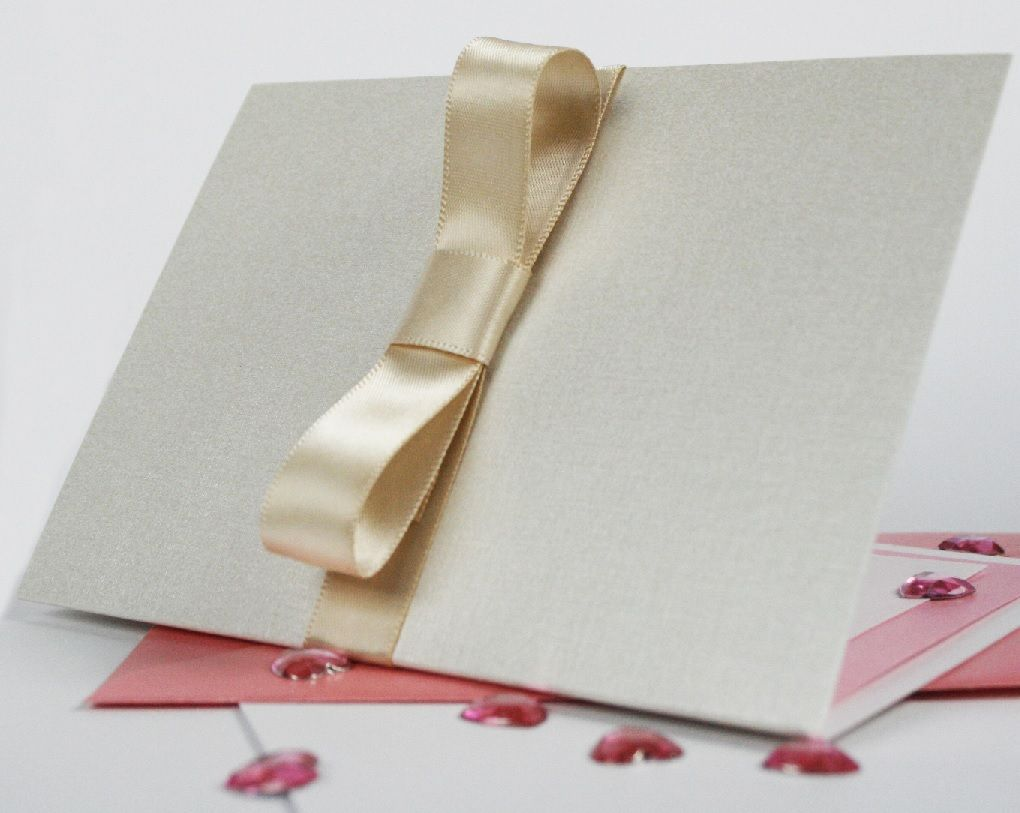 Beautiful wedding invitation design idea, in baby pink and ivory ...