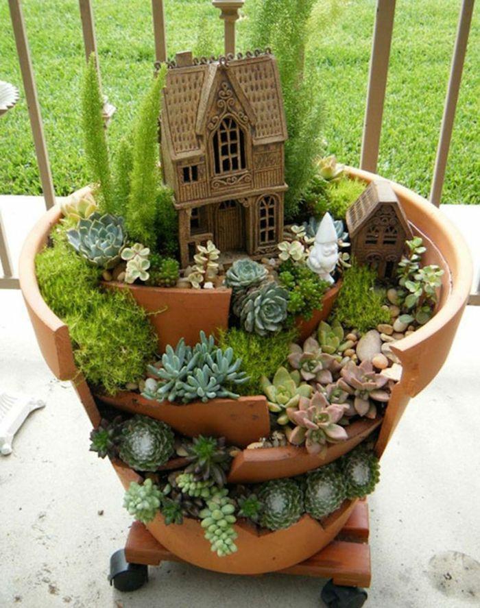 Deko Bastelideen Reizvollen Mini Garten Kreieren Garten Garten