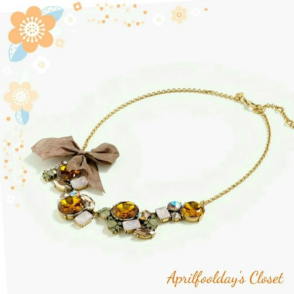 Best Seller J.Crew Crystal Bow Necklace Brandnew without original package. J. Crew Jewelry Necklaces