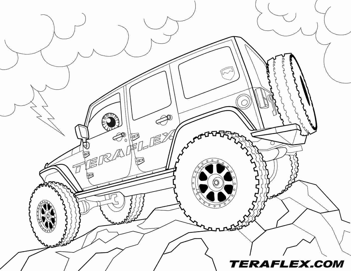 Jeep Wrangler Coloring Pages - Coloring Pages Ideas