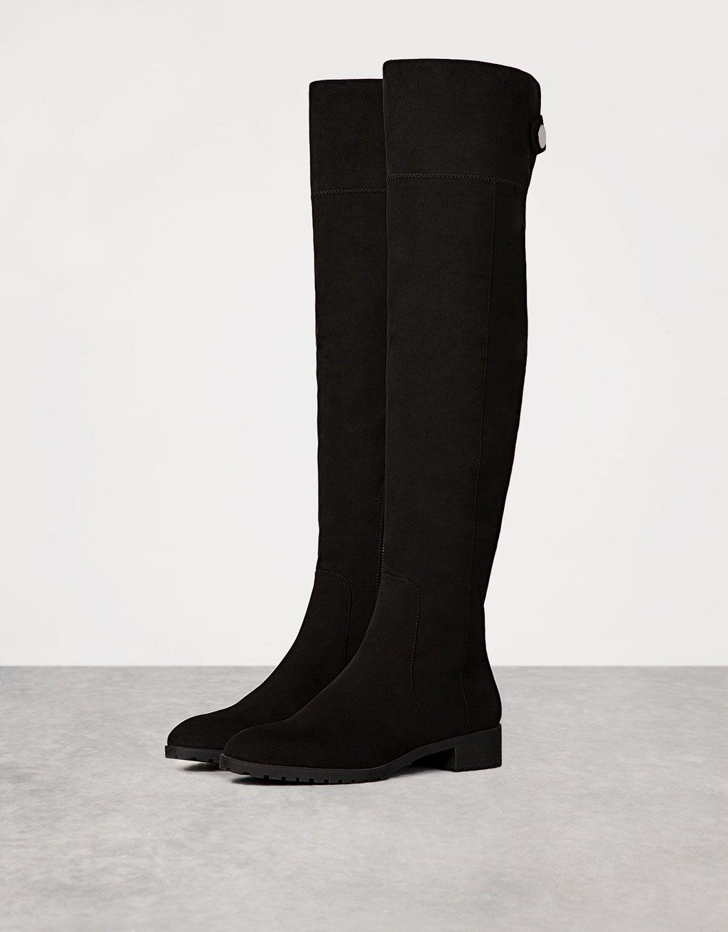 ecfc4c6f6d769 Tight-fitting flat, tall boots | Odeca 2016 | Flat heel boots, Tall ...