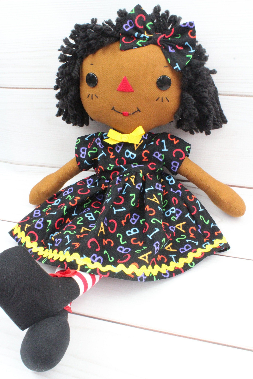 Raggedy Ann Doll Black Rag Doll Cinnamon Annie Doll Baby