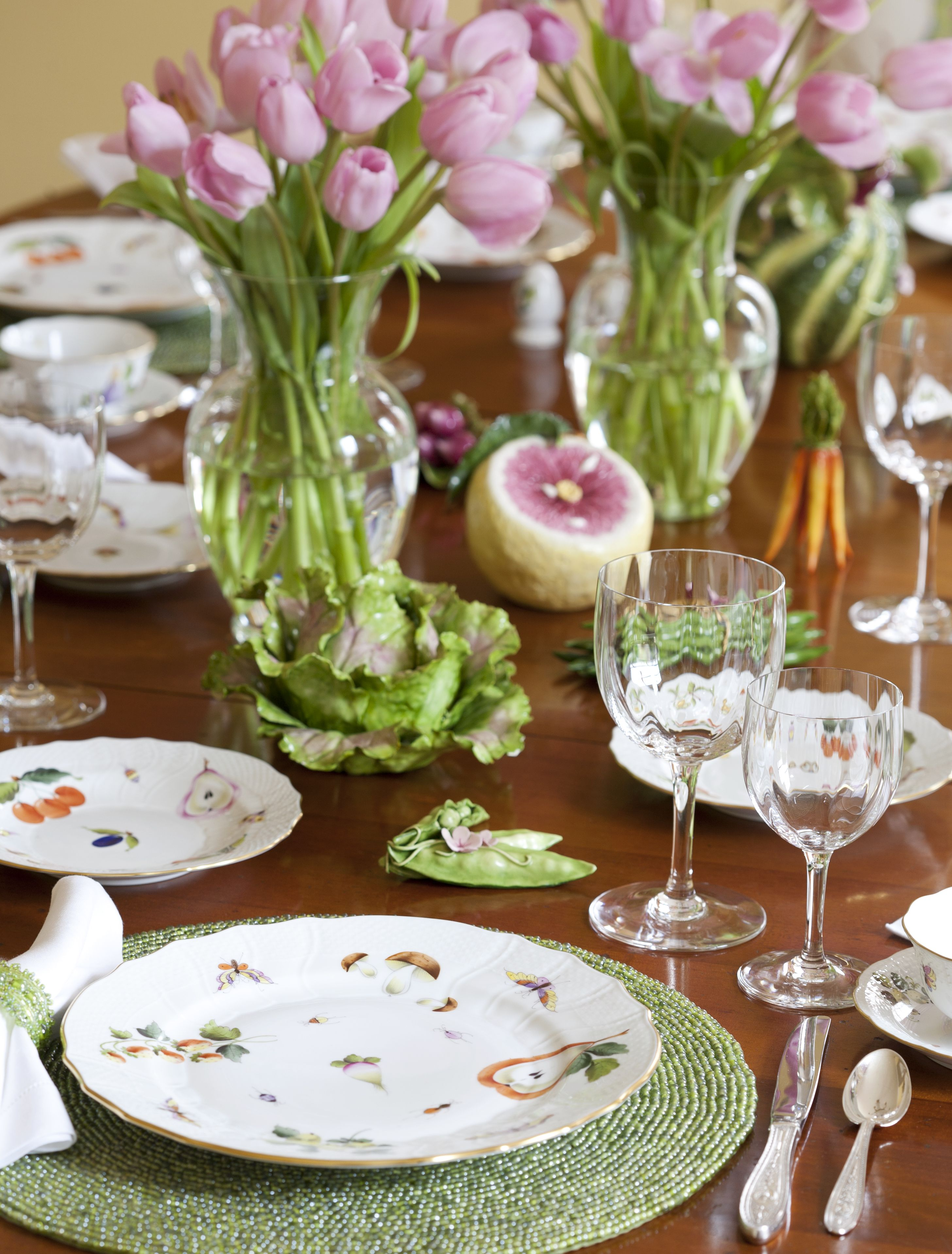 Formal Table Setting Herend Market Garden And Katherine