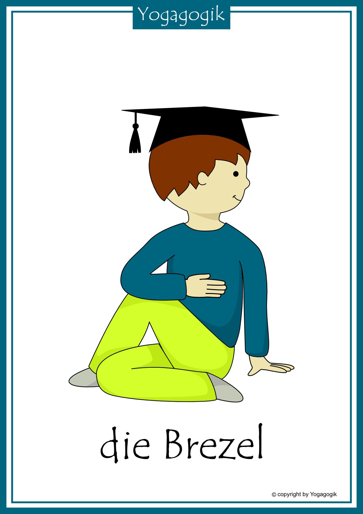 kinderyoga flashcards brezel  yoga für kinder kinderyoga