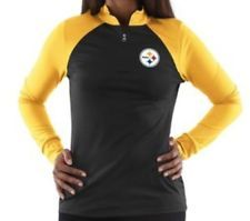 7a592f201 Pittsburgh Steelers NFL Women s 1 4 Zip Long Sleeve Pullover T-Shirts Top   S-L FREE SHIPPING!