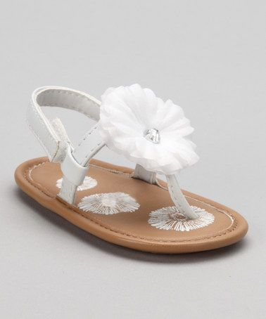 Take a look at this White Lil Starlet Sandal - Infant by Natural Steps on #zulily today!