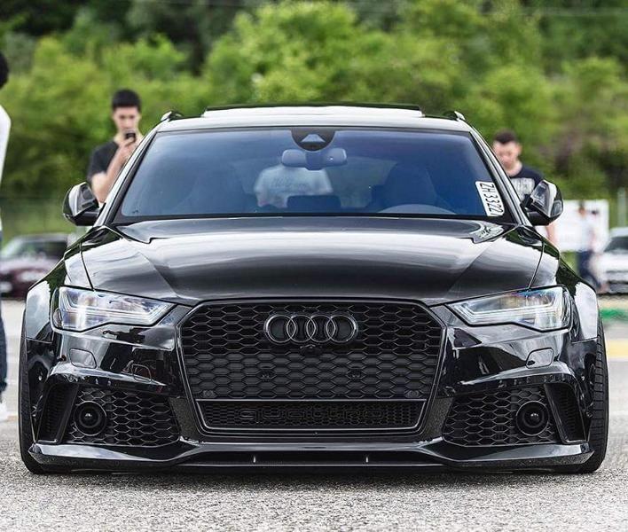 Audi RS6 C7 Avant Black Tuning 2 Photo