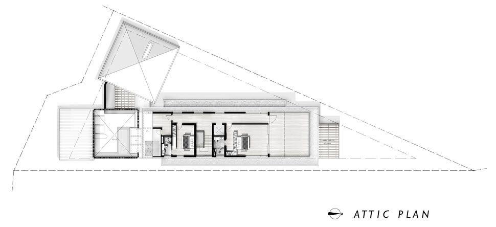 Dise o casa moderna terreno triangular planos casas for Casa moderna restaurante salta