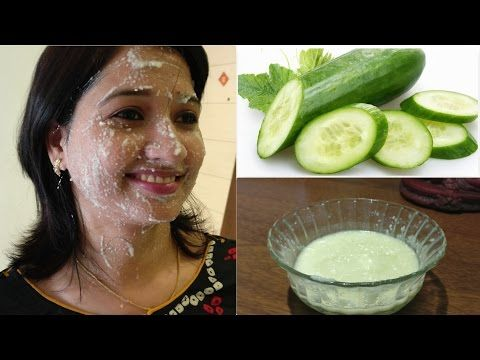 Cucumber facial to remove spots