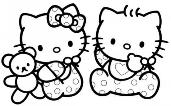 Free Printable Baby Hello Kitty Coloring Pages For Kids Picture 2 550x341 Picture Hello Kitty Colouring Pages Hello Kitty Coloring Kitty Coloring