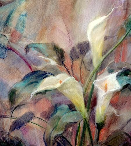 """""""Pastel Calla Study"""" by Julie Ford Oliver"""