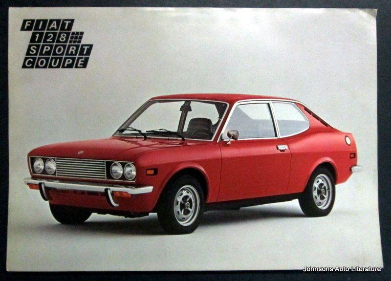 Fiat C 1975 128 Sport Coupe Brochure French Text Met Afbeeldingen