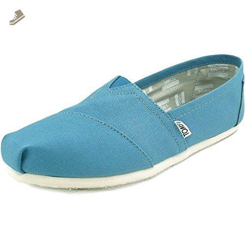 Toms Women's Classic Canvas Cornflower Blue Ankle-High Canvas Flat Shoe - 10M LanbOG737