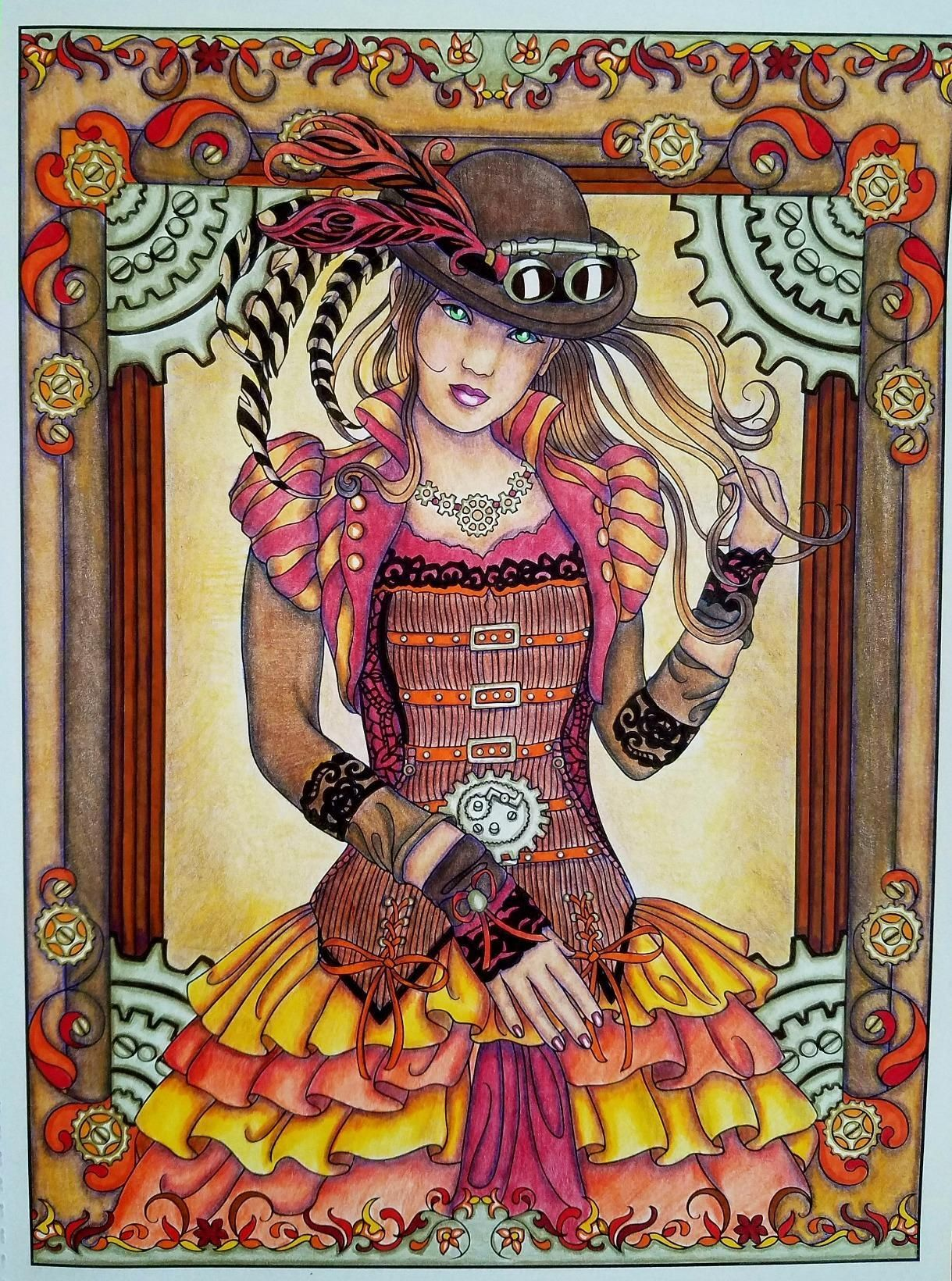 Creative Haven Steampunk Fashions Coloring Book Marty Noble Lovely By Roguewrit Fashion Coloring Book Steampunk Coloring Book Creative Haven Coloring Books