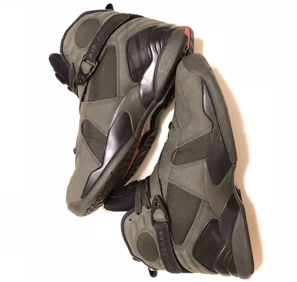 brand new 69ccc 5f1f0 AIR JORDAN RETRO 8 Take Flight Undefeated Olive Green Size ...