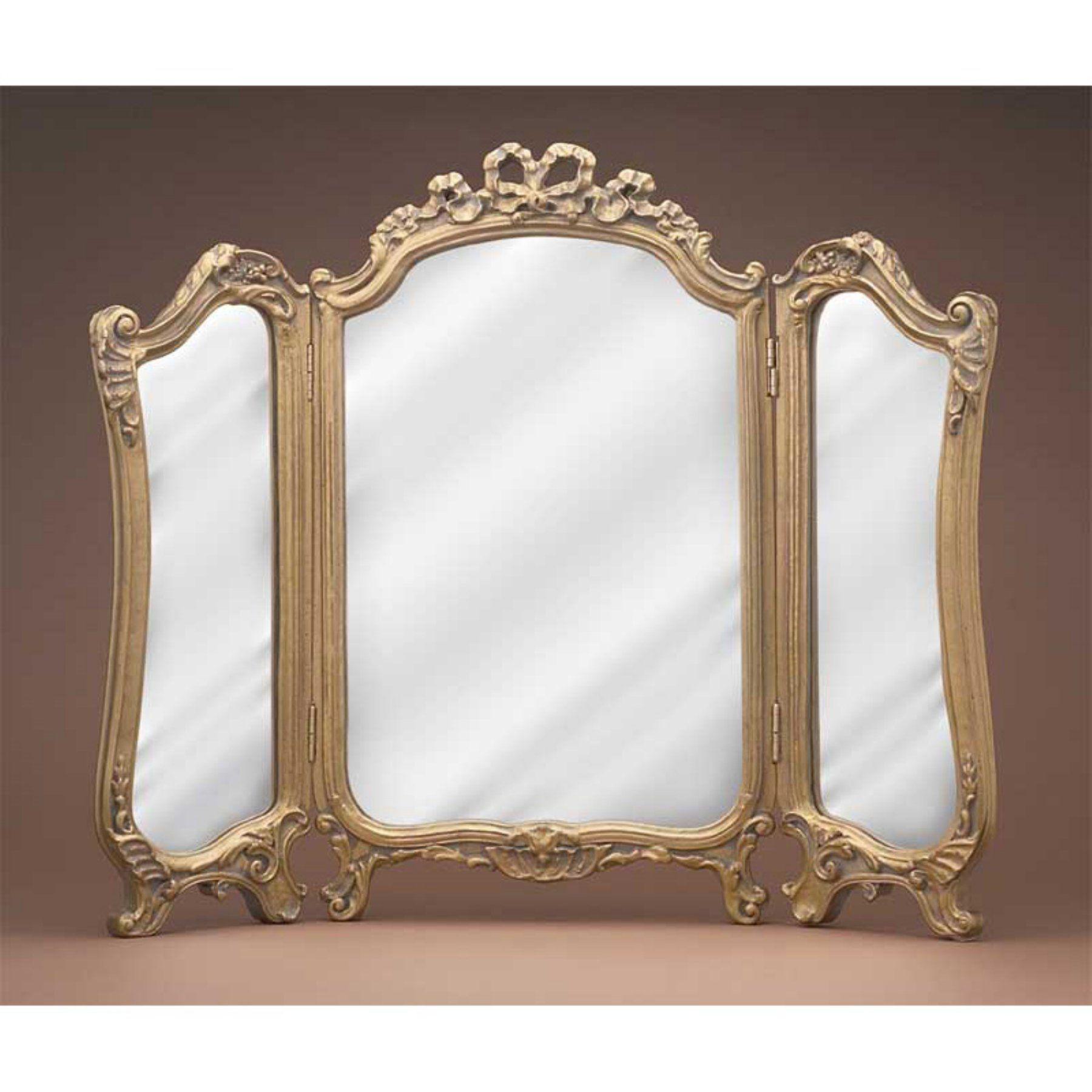 Hickory Manor House Tri Fold Vanity Mirror 26.75W x 31