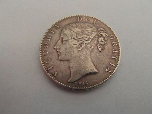 1844 Crown with Cinquefoil Stops  Rare coin