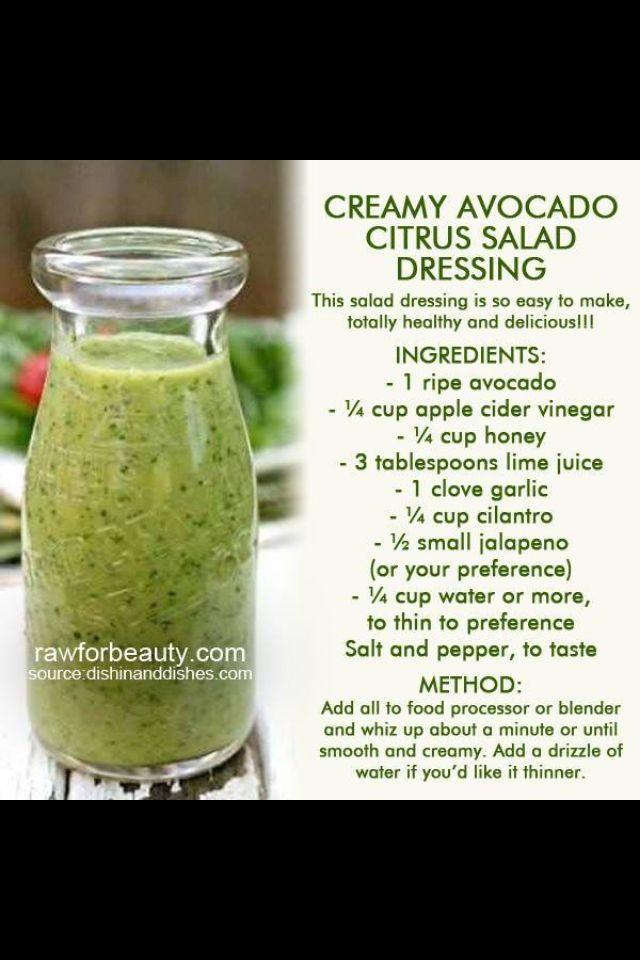 Avocado dressing!