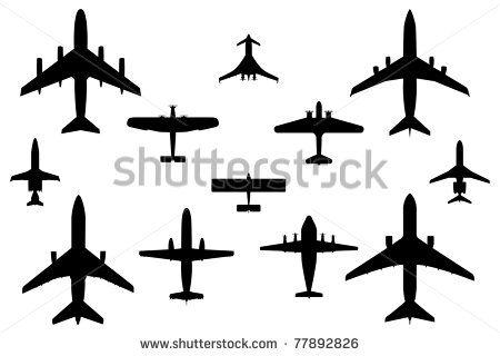 Airplane Silhouette Stock Photos Airplane Silhouette Stock Bocetos Tatuajes Tatuajes Flechas Tatuajes Aviones