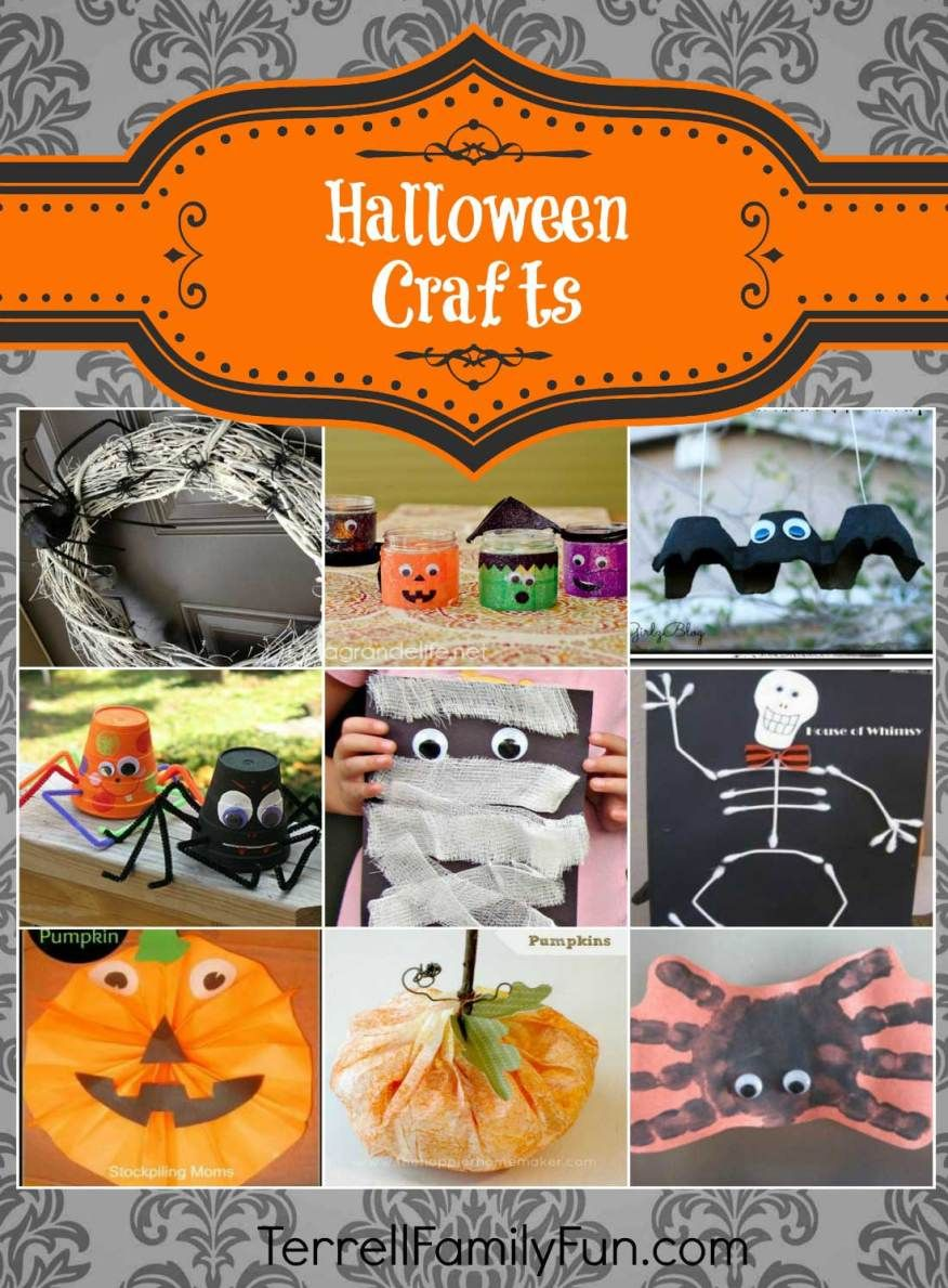 Halloween Crafts For Kids Halloween Crafts Halloween Crafts For