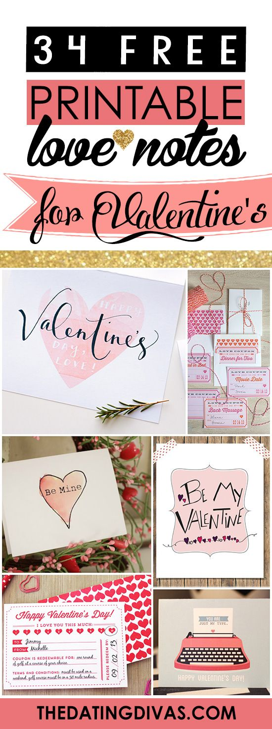 100 Free Printable Love Notes For Him Valentines Diy