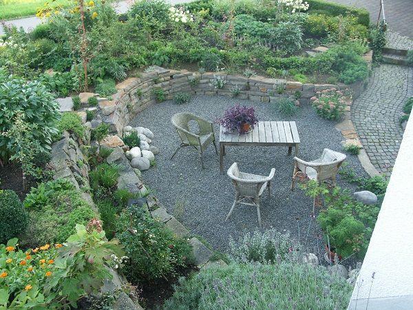 Bildergebnis für garten gestalten mit kieselsteinen | Garten ...