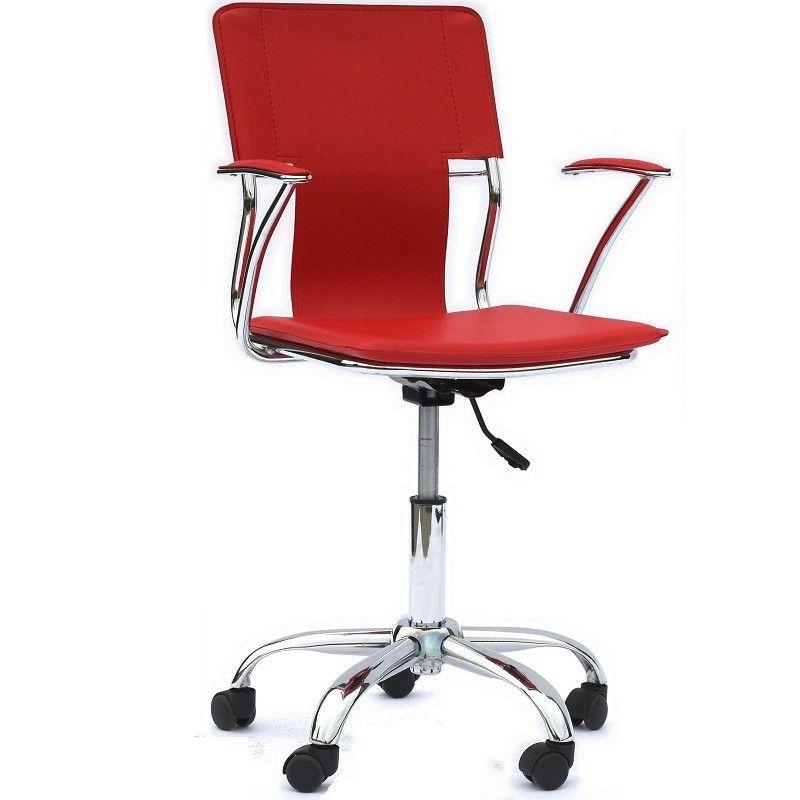 Dayton Office Chair Red Chrome Modern Office Chair Red Office Chair Best Office Chair