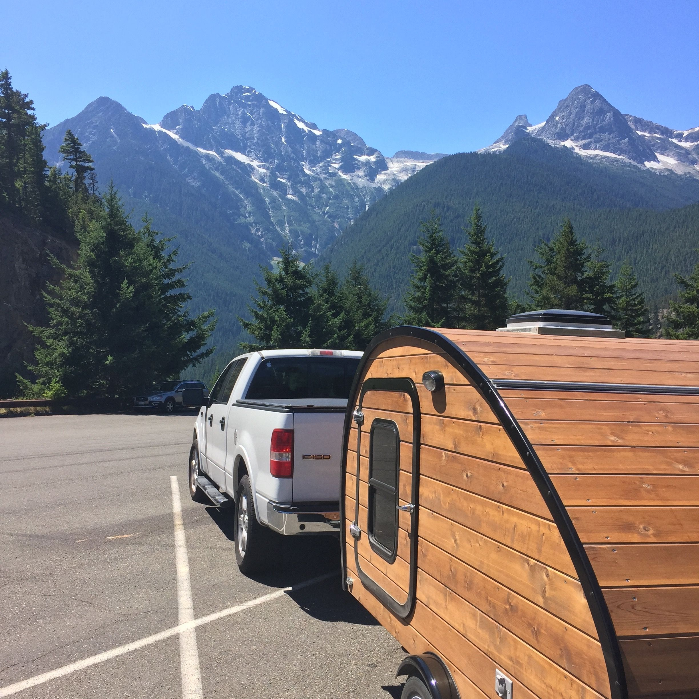 My first trip on Highway 20 from Winthrop to Burlington.  This was the most BEAUTIFUL drive...a great way to end the inaugural trip with my teardrop camper.