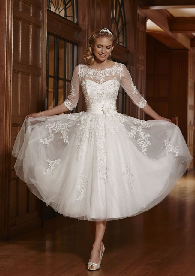Wedding Dresses To Suit Your Theme From Romantica Of Devon Tea Length Wedding Dress Vintage Tea Length Dresses Tea Length Wedding Dress
