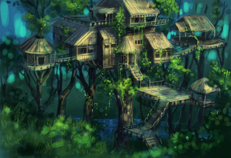 Tree houses on pinterest amazon rainforest tree houses and trees