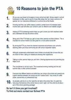 Parent Teacher Association - 10 Good Reasons to Join Your School's PTA