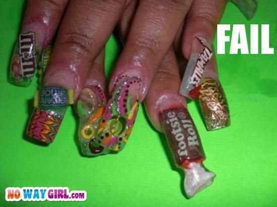 Ghetto Nails Great, now I'm hungry. More ghetto nail designs submitted by:  Rita Boo She Was Like: I'm Going To Get Snacks Put On My Nails - Ghetto Nails Great, Now I'm Hungry. More Ghetto Nail Designs