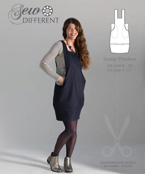 Scoop Pinafore – Multisize sewing pattern on paper or to download ...