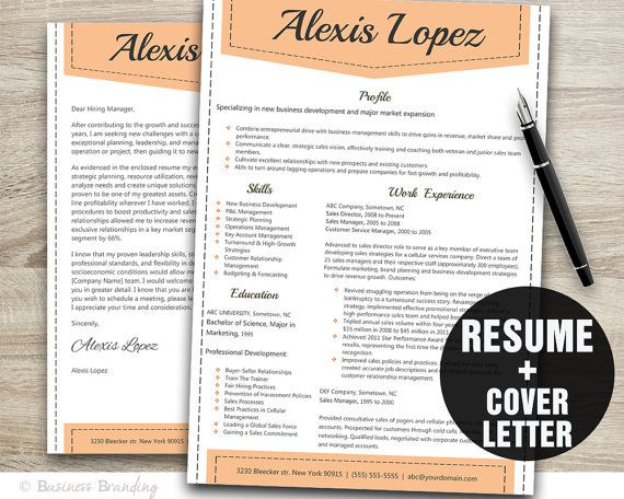 Professional Resume Template Instant Download by BusinessBranding - professional resume help