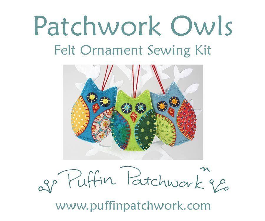 Owls Felt Sewing Kit Felt Owl Ornament Kit Diy Owl Ornaments Felt