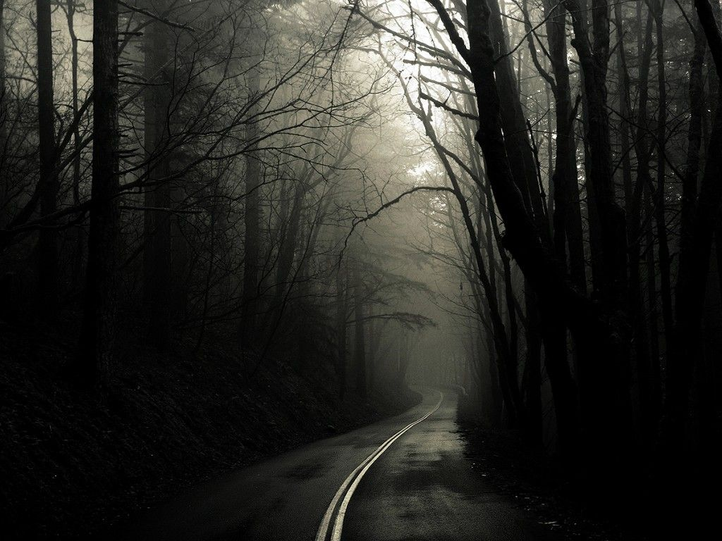 Wallpaper Scary Backgrounds Scary Wallpaper Forest Road