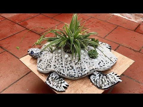 1 Diy Cement Craft Ideas Idea Making A Turtle