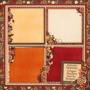 Autumn Splendor Stacked Papers