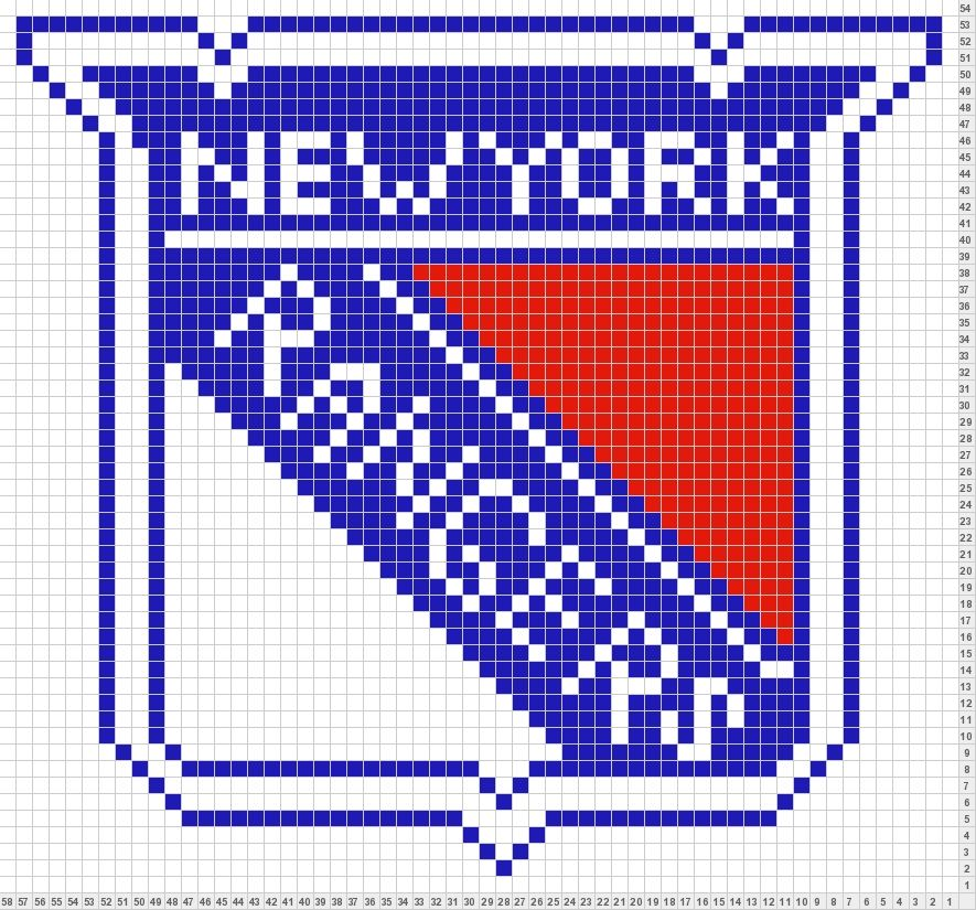 Logo Knitting Pattern : New york rangers logo colorwork knitting patterns