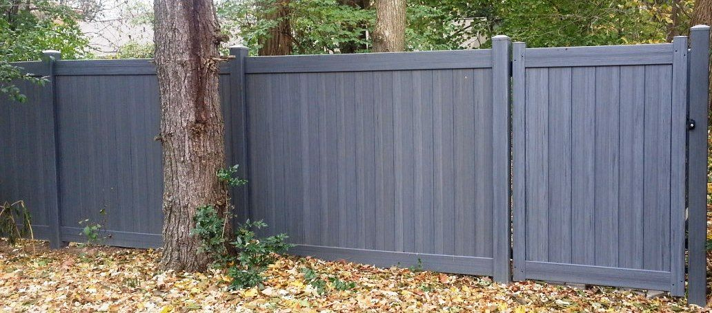 Chesterfield With Certagrain Texture Certain Teed Bufftech Color Artic Blend Vinyl Fence Backyard Plan Security Fence