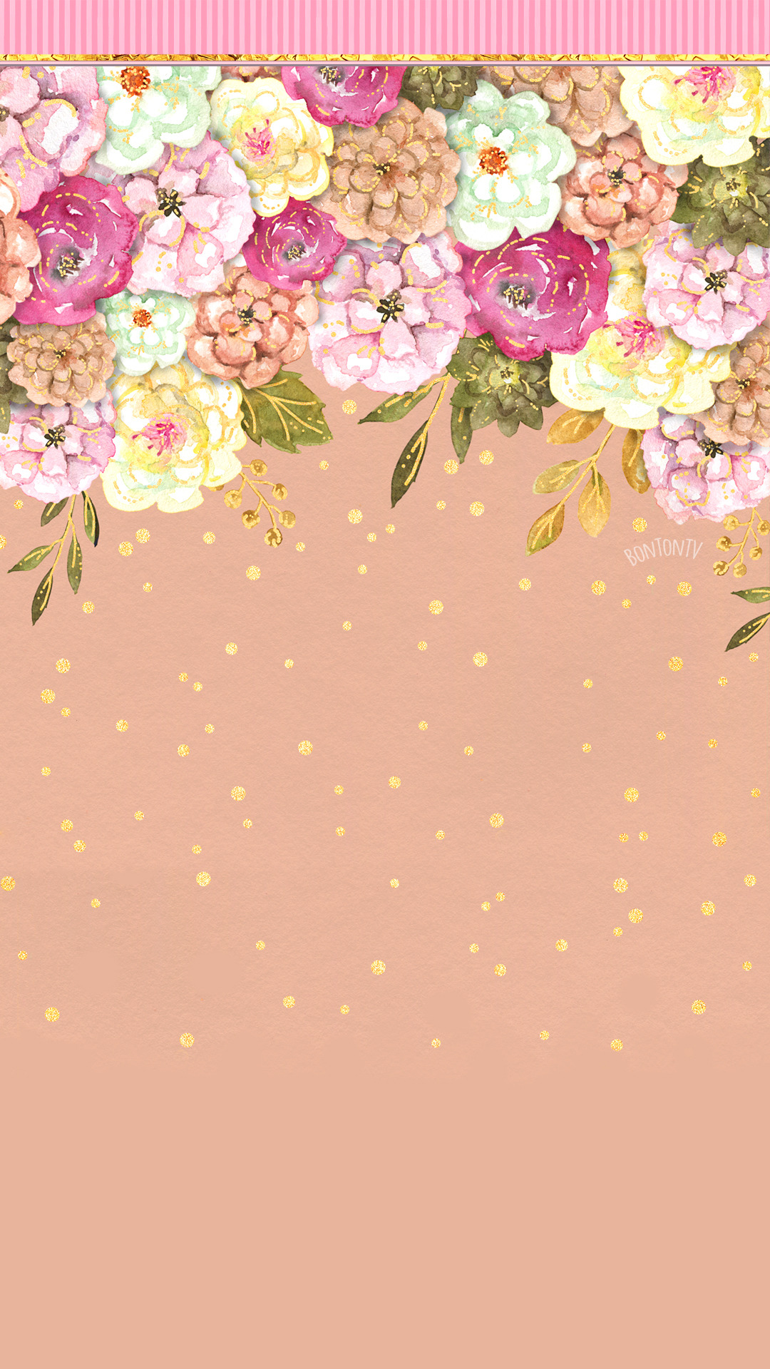 Phone Wallpapers Hd Flowers Watercolor Cute Glitter Background By Bonton Tv Beautiful Wallpapers For Iphone Pretty Wallpapers Aesthetic Iphone Wallpaper