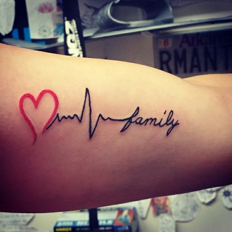 my family is my heartbeat tattoos pinterest my. Black Bedroom Furniture Sets. Home Design Ideas
