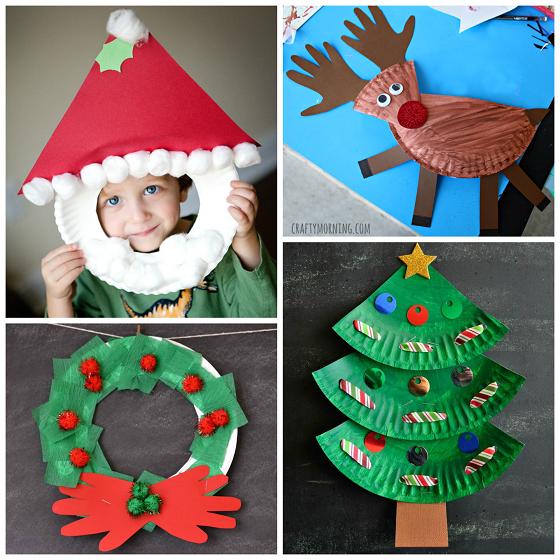 Reciclaje Con Platos De Papel Para Navidad Navidad Pinterest