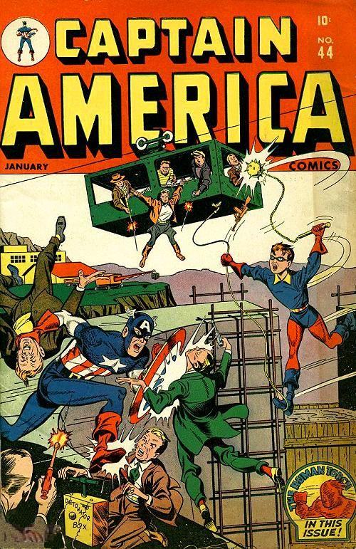 Captain America Comics # 44 by Alex Schomburg