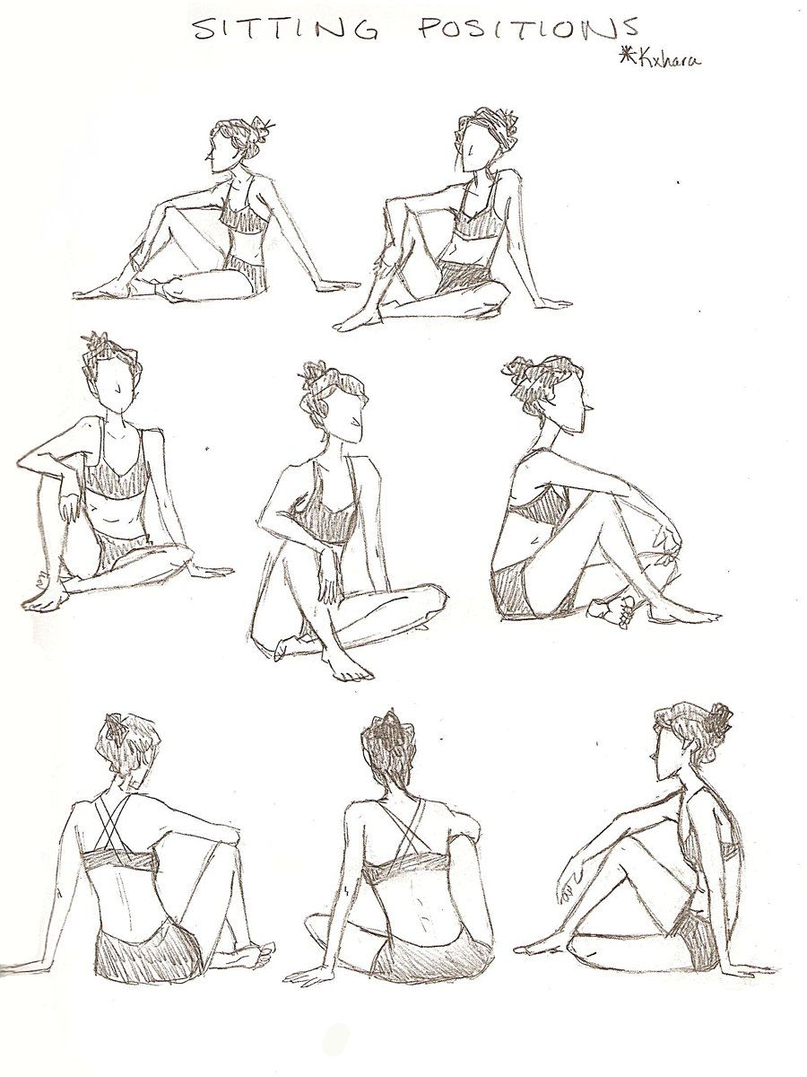 Viewing Gallery For Anime Sitting Poses How To Draw Drawing